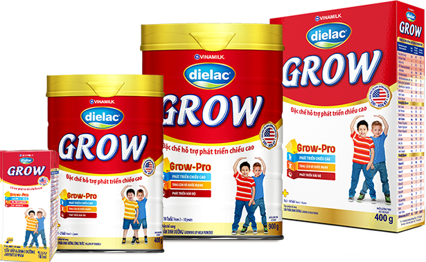 Sữa Dielac Grow sữa giúp bé phát triển chiều cao