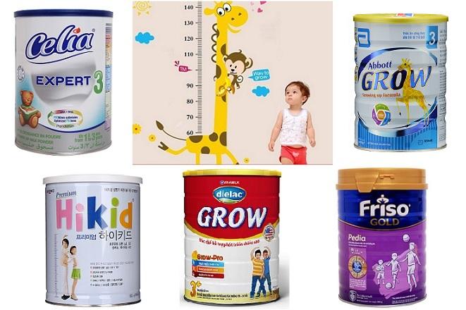 Top 7 loại sữa giúp bé phát triển chiều cao đạt chuẩn tốt nhất hiện nay