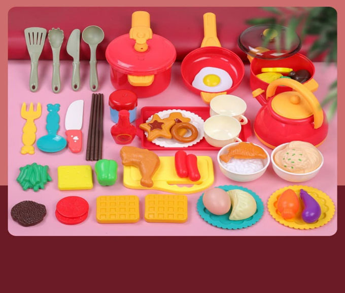 Bộ đồ chơi nấu ăn, gia đình